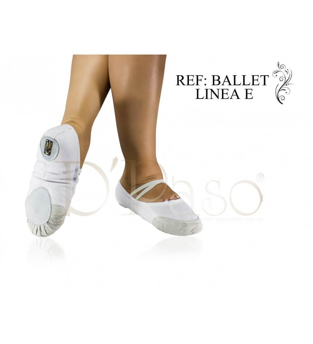 Zapatilla Media punta lona blanca Ref-Ballet-Linea-E-(02)