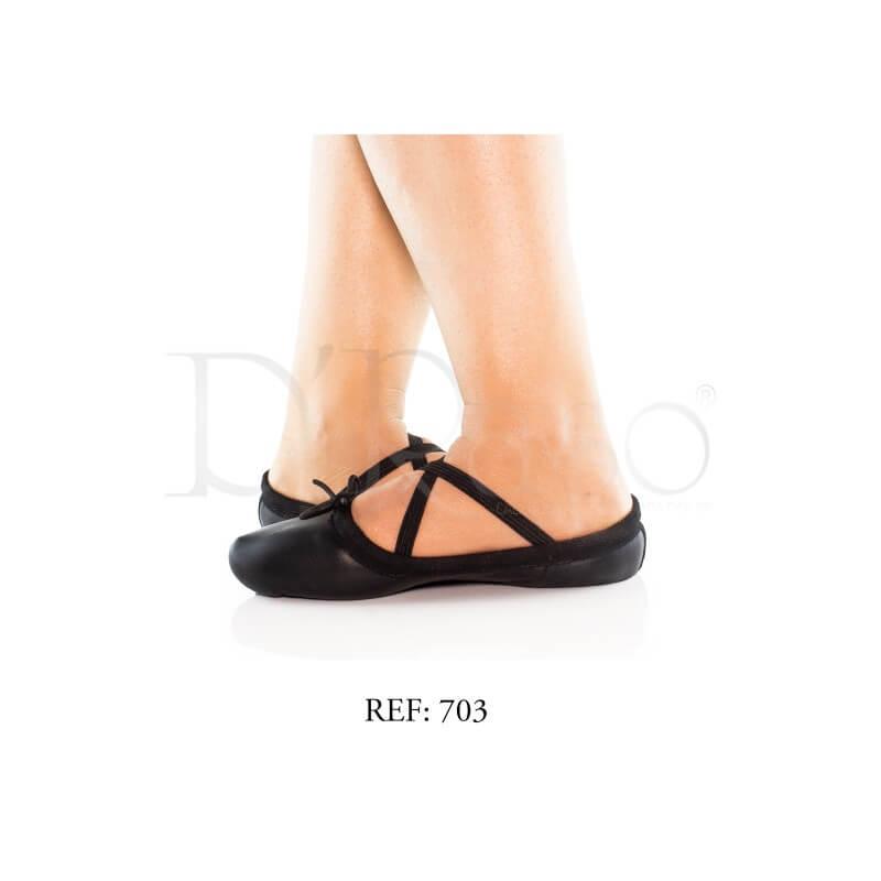 C Negra Zapatilla Negro Punta Media Cuero Clothes Ballet Ref D´raso lKFJ31cT