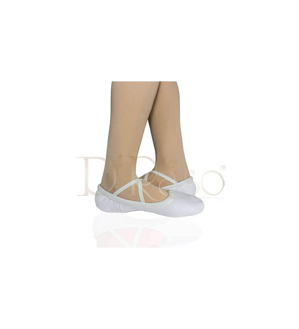 Zapatilla Media punta cuero blanca Ref-Ballet C-Blanca