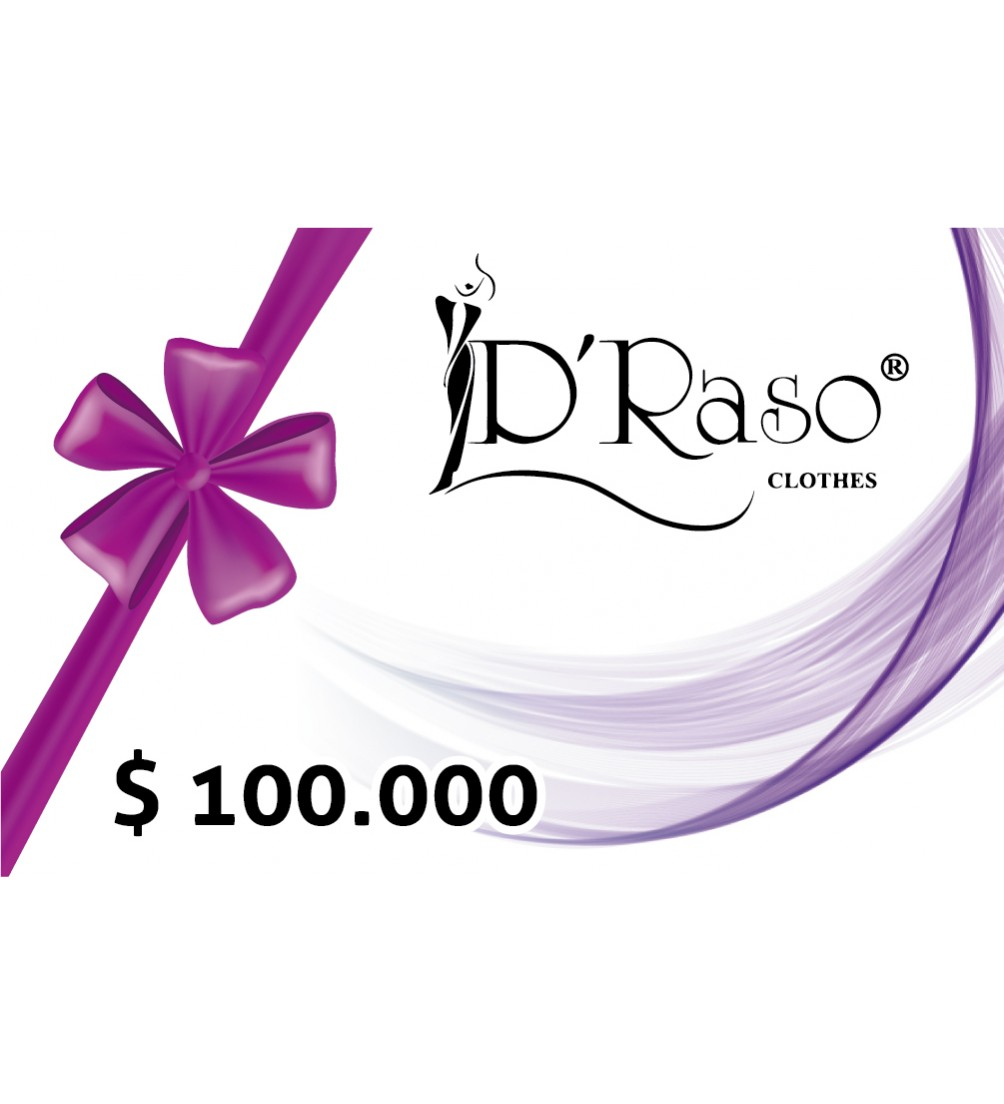 Bono Regalo $100.000 Draso Clothes