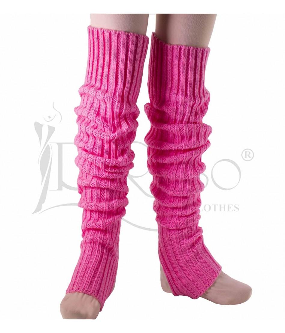 Calentadora tejida rosa confite