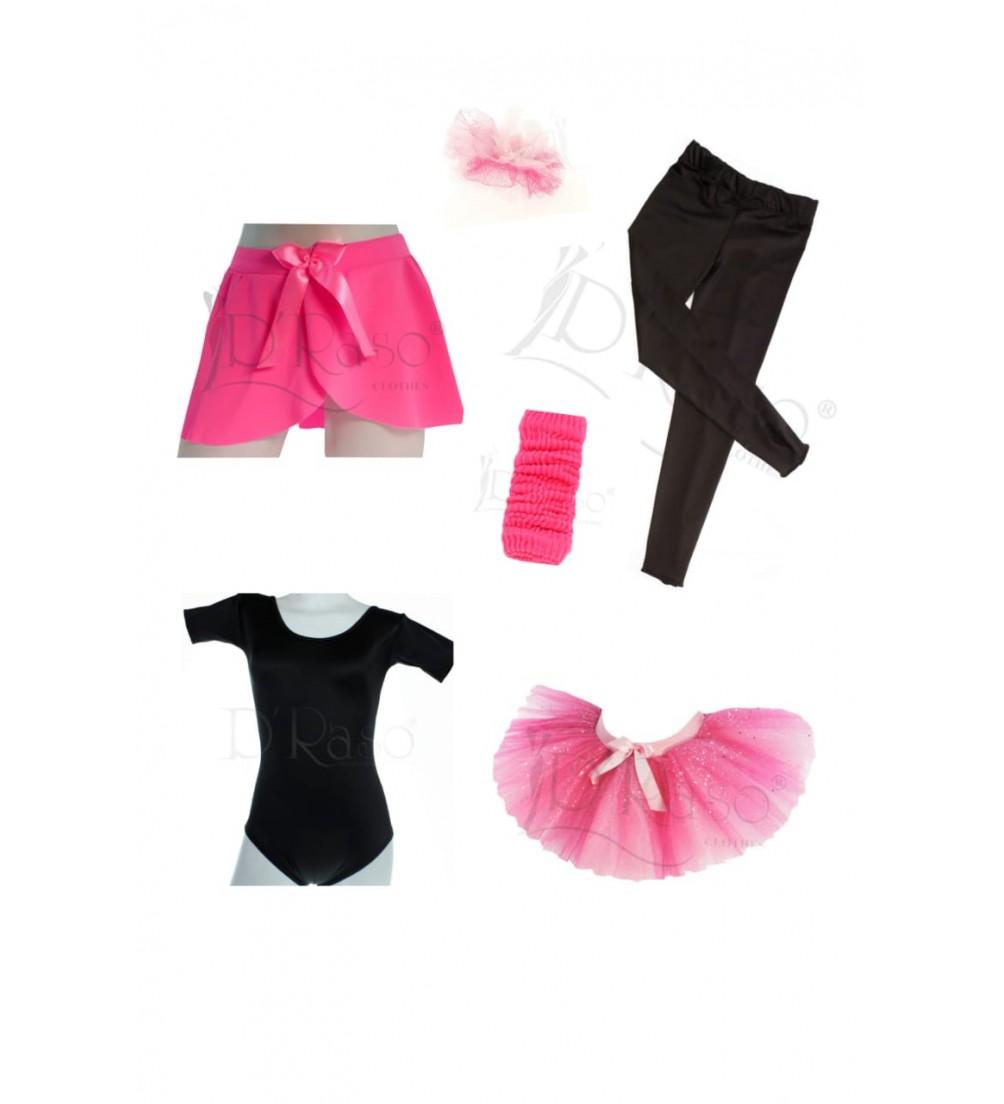 Kit ballet  negro- rosa barbie