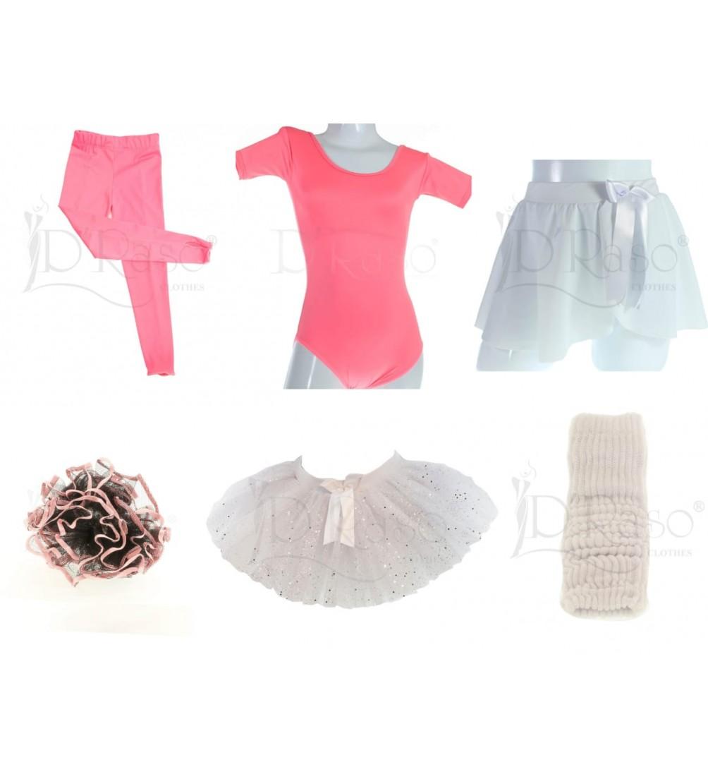 Kit ballet  rosa barbie - blanco