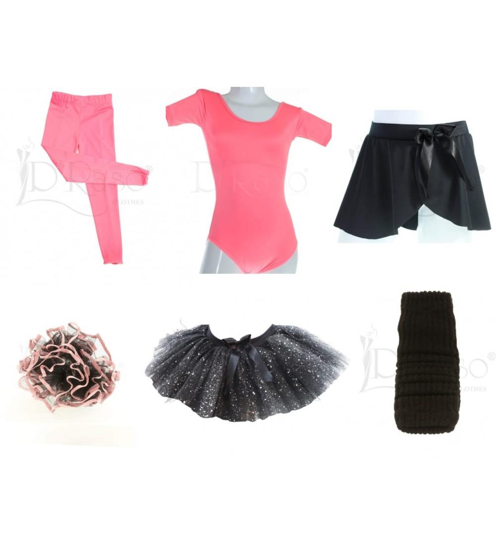Kit ballet  rosa barbie - negro